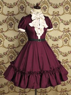 Burgundy loli dress