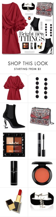 """Fall Fashion Dress // NYFW"" by defivirda ❤ liked on Polyvore featuring Yves Saint Laurent, Christian Dior, Bobbi Brown Cosmetics, John Lewis, Tom Ford, NYFW and falldresses"