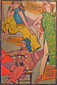 1960s Mod Womenswear Fashion Women Comic Book Vintage Ladies Fashions A | Flickr - Photo Sharing!