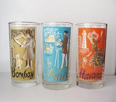 vintage drinking glasses - Google Search Vintage Cocktails, Pint Glass, Drinking, Beer, Glasses, Google Search, Tableware, Root Beer, Eyewear