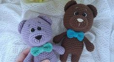 This amigurumi pattern is free and easy to crochet. Create your own a teddy bear doll in dress. You'll need mm crochet hook and Himalaya Dolphin Baby yarn. Crochet Teddy Bear Pattern, Plush Pattern, Crochet Patterns Amigurumi, Crochet Blanket Patterns, Crochet Dolls, Free Pattern, Knitting Bear, Bowtie Pattern, Stuffed Animal Patterns