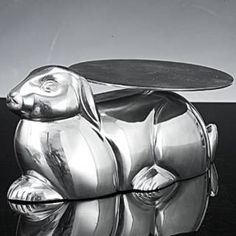 Check out the Godinger 9031 Aluminum Rabbit Serving with Platter