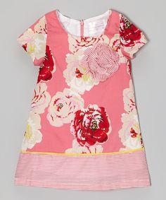 Take a look at this Pink Stripe Floral Dress - Toddler & Girls on zulily today!