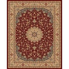Balta US Classical Manor Red 9 ft. 2 in. x 12 ft. 5 in. Area Rug-68500102803803 at The Home Depot