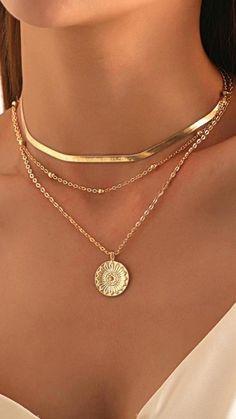 Gold Coin Necklace, Cute Necklace, Silver Chain Necklace, Collar Necklace, Beaded Necklace, Necklaces, Pendant Necklace, Bracelets, Fashion Necklace