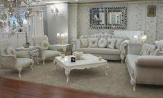 Beyaz Renk Avangard Salon Takımları | Salon Koltuk Takımları