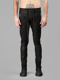 Visions of the Future: ISAAC SELLAM MEN'S BLACK LEATHER TROUSERS