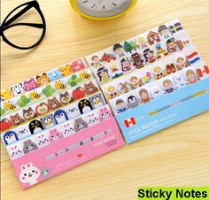 NEW Cartoon animals sticky note Post it stick & memo paper bookmark stationery office School supplies message post / retail-in Memo Pads from Office & School Supplies on Aliexpress.com   Alibaba Group