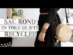 COUDRE un SAC ROND en toile de JUTE RECYCLEE - YouTube Easy Sewing Projects, Sewing Hacks, Formation Couture, Sewing Online, Loom Knitting, Sewing Patterns, Tote Bag, Bags, Inspiration
