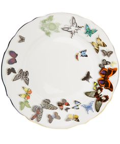 Christian Lacroix White Butterfly China Dinner Plate