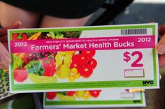 Health bucks: win win for the consumer and producer. for more pins see the urban imagined https://pinterest.com/urbanimagined/