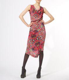 Pink Dynasty Print Redman Dress