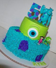 monsters inc birthday ideas | cake monsters inc cute monster fondant gumpaste