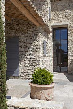 The odds - Retreat House, Stone Houses, Architecture Details, Building A House, Villa, House Design, Outdoor Decor, Inspiration, Patio Stone