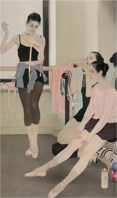 White — adhemarpo: He Jiaying, peintre chinois...