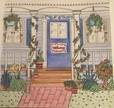 Welcome home - colored by Cheryl Krumm