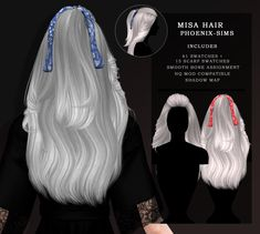 Misa Hairwith Scarf by Phoenix Sims Four, Sims 4 Mm, Sims 4 Mods Clothes, Sims 4 Clothing, Vêtement Harris Tweed, Sims 4 Collections, Sims 4 Cc Eyes, Sims 4 Black Hair, The Sims 4 Cabelos