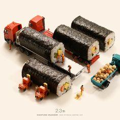 'Sushi Truck' from Tatsuya Tanaka's (Miniature Calendar series