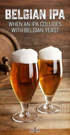A relatively new beer style, Belgian IPA is the result of an American IPA colliding with Belgian yeast and brewing practices. Brewing Recipes, Homebrew Recipes, Beer Recipes, Recipies, Home Brewery, Beer Brewery, Home Brewing Beer, Diy Man, Wine