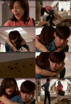 Jang Hye Sung panic attack to cockroach , park soo ha  - i hear your voice