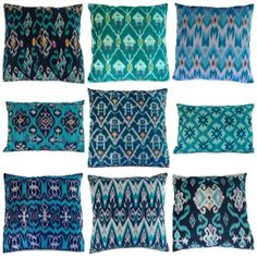 gorgeous shades of blue for pillows                                                                                                                                                                                 More