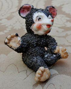 Antique Occupied Japan Cartoon Figurine Mickey Mouse Bear Spaghetti Porcelain | eBay