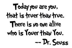 Its Dr. Seuss' birthday.  On a Seuss kick today.
