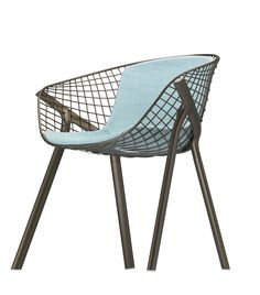 """Kobi chair special edition http://www.aliasdesign.it/worlds/31/kobi/  Presentation of """"kobi chair special edition"""" with designer Patrick Nourget — at Terre Design  #design #chairs"""