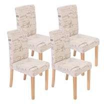 precioso conjunto de sillas de comedor dali diseo moderno crema con motivos