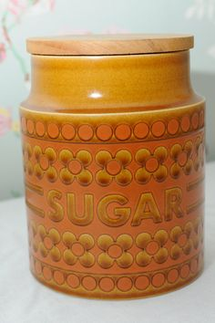 Hornsea Pottery Saffron Sugar Barrel by VivaVivaVintage on Etsy