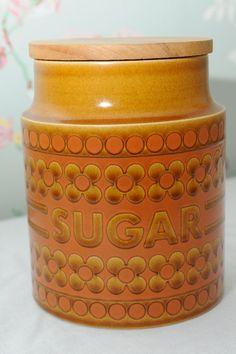 Hornsea Pottery Saffron Sugar Barrel by VivaVivaVintage on Etsy