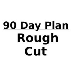The next step is to take the 90 Day Plan and 'chunk it down' into my intentions for the 30 and 60 day periods. Then...figure out what needs to happen weekly...