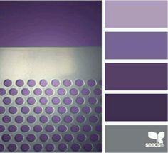 purple and silver colour palette by StarMeKitten Purple Palette, Colour Pallette, Colour Schemes, Color Patterns, Color Combos, Palette Design, Design Seeds, Colour Board, Color Swatches
