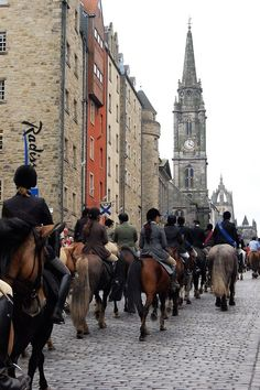 """Riding the Royal Mile in Edinburgh"""