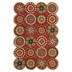 """Wool rug with a medallion motif. Handcrafted in India.  Product: RugConstruction Material: 100% Virgin woolColor: RedFeatures:  Handcrafted in IndiaLatex and cotton backing provides extra durability Dimensions: 5' x 7'9""""Note: Please be aware that actual colors may vary from those shown on your screen. Accent rugs may also not show the entire pattern that the corresponding area rugs have."""