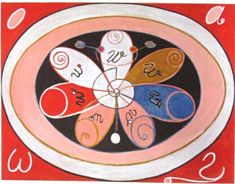 A Arte Oculta de Hilma af Klint e sua Pintura para o Futuro: Piet Mondrian, Wassily Kandinsky, Sophie Taeuber Arp, Klimt, Hilma Af Klint, Serpentina, Action Painting, Painting Art, Arte Popular