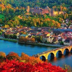 Heidelberg, Germany. Heidelberg Castle in the background. World's largest beer barrel.