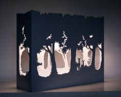 Petit théâtre d'ombres lampe blanche et par CCalmettesCreations
