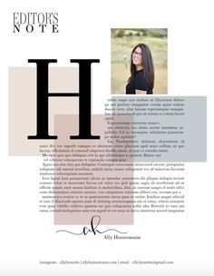 Editor's page - Magazine layout design