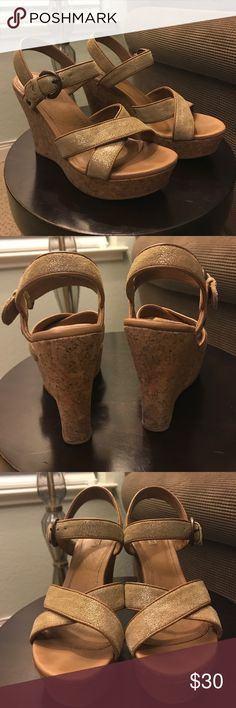 Ugg metallic wedges 7. Great condition  cork wedges. UGG Shoes Wedges