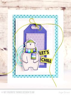 Cool Day Stamp Set and Die-namics, Geometric Grid Background, Scribbles Die-namics, Inside & Out Diagonal Stitched Rectangle STAX Die-namics, Grid Stencil - Inge Groot  #mftstamps