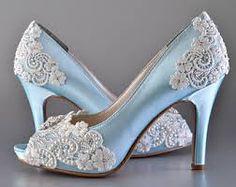 Image result for vintage flat wedding shoes blue