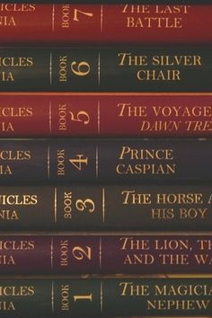 The current order of THE CHRONICLES OF NARNIA, which reflects the chronological sequence of events in the books themselves.