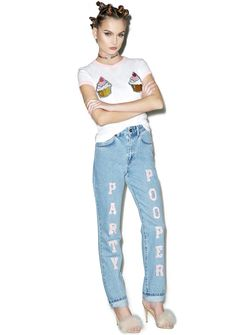 Party Pooper Mom Jeans $71.40