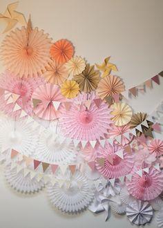 mixed paper backdrop