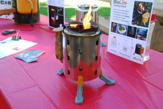 BioLite Camp Stove; Has built-in USB charger to charge small gadgets... yay for camping!