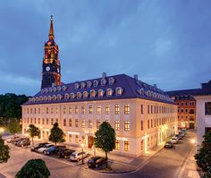 Bülow Palais. Hotel and restaurant in town. Dresden, Germany #relaischateaux. Another great Relais Chateaux that I stayed! This time in Dresden, the capital of Saxonia.