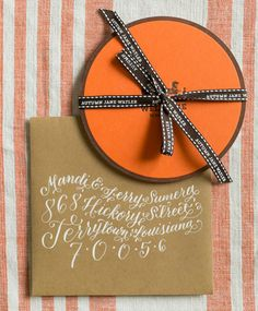 cf2ed6139d8 Birth Announcement Ideas  Hermès-Inspired Baby Announcements with custom  ribbon by Atheneum Creative via