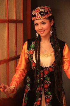 Uygur woman in national dress.