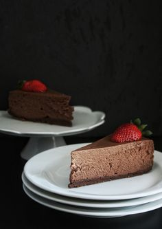 Čokoládový cheesecake – The Olive Raw Food Recipes, Sweet Recipes, Dessert Recipes, Czech Desserts, Cake Recept, Healthy Cake, Mini Cheesecakes, Piece Of Cakes, Baked Goods